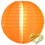 "16"" Even Ribbing Orange Nylon Lantern(12 pieces)"