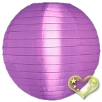 "12"" Even Ribbing Light Purple Nylon Lantern(12 pieces)"
