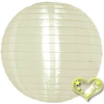 "12"" Even Ribbing Ivory Nylon Lantern(12 pieces)"