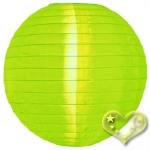 "12"" Even Ribbing Lemon Nylon Lantern(12 pieces)"