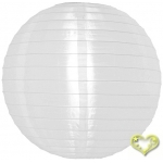 "12"" Even Ribbing White Nylon Lantern(12 pieces)"