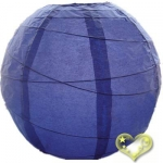 14 Inch Uneven Ribbing Bueberry Paper Lanterns