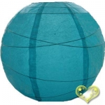 14 Inch Uneven Ribbing Water Blue Paper Lanterns