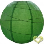 16 Inch Uneven Ribbing Grass Green Paper Lanterns