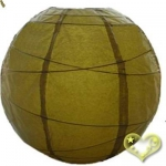 14 Inch Uneven Ribbing Pear Paper Lanterns