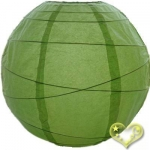 30 Inch Uneven Ribbing Light Lime Paper Lanterns
