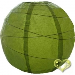 16 Inch Uneven Ribbing Chartreuse Paper Lanterns