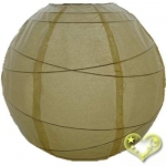 16 Inch Uneven Ribbing Light Yellow Paper Lanterns