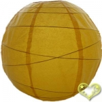 16 Inch Uneven Ribbing Yellow Paper Lanterns