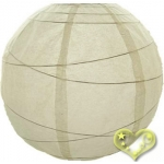 16 Inch Uneven Ribbing Ivory Paper Lanterns