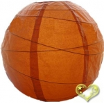 36 Inch Uneven Ribbing Burnt-Orange Paper Lanterns