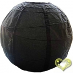 36 Inch Uneven Ribbing Black Paper Lanterns