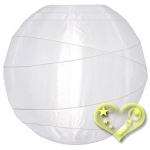 "12"" Uneven Ribbing White Nylon Lantern(12 pieces)"