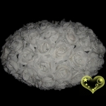 "18"" Saturn White Rose Flower Lantern"