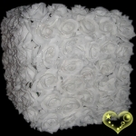 "12"" Square White Rose Flower Lantern"