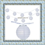 "3"" White Paper Shaped Party String Lights-20L"