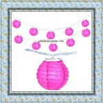 "3"" Fuchsia Paper Shaped Party String Lights-20L"