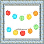 "3"" Multi Paper Shaped Party String Lights-20L"