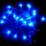Flash Blue 20 Bulbs Led Battery Party String Lights