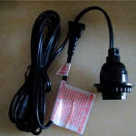 E26 Black Electrical Light Kit (UL Approval)-6'