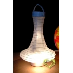 Genie Bottle 3Led battery Lantern-White