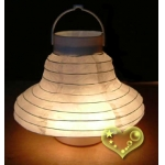 Bell 3Led battery Paper Lanterns-white