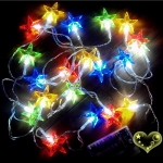 Crystal Star Flash 20 Led String Lights