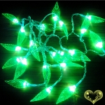 Crystal Tree Leaf Flash 20 Led String Lights
