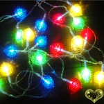 Crystal Heart Flash 20 Led String Lights