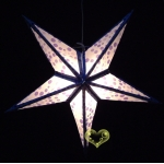 "24""Blue Dot Star Lantern"