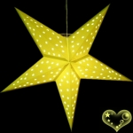 "24""Light Yellow Star Lantern"