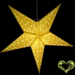 "24""Dark Yellow Star Lantern"