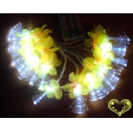 Silk Flower Patels Flash 20 Led String Lights-Yellow & Pink