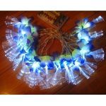 Silk Flower Patels Flash 20 Led String Lights-Purple&Lime