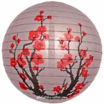"16"" Japanese Plum Tree Paper Lantern"