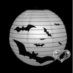 "16"" Bat Printed Paper Lanterns"