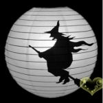 "16"" Witch Printed Paper Lanterns"