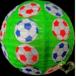 "12"" Colored Football patterned paper lantern"