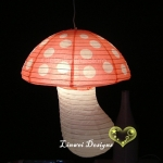 White Dot with Red Mushroom Paper Lanterns