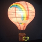 "12""Pink Rainbow Air Balloon Paper Lanterns(100 of case)"