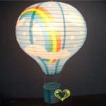 "16""Sky Blue Rainbow Air Balloon Paper Lanterns"