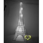 White Eiffel Tower Paper Lantern