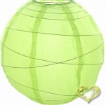 "8"" Uneven Ribbing Lemon Nylon Lantern(12 pieces)"