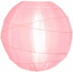 "6"" Uneven Ribbing Pink Nylon Lantern(12 pieces)"