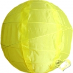 "10"" Uneven Ribbing Yellow Nylon Lantern(12 pieces)"