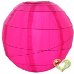 "16"" Uneven Ribbing Hot-Pink Nylon Lantern(12 pieces)"