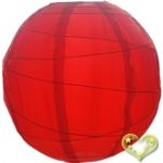 "20"" Uneven Ribbing Red Nylon Lantern(12 pieces)"