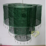 3Tiers Dark Green Sari Fabric Lantern