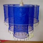 3Tiers Navy Blue Sari Fabric Lantern