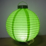 "8""Grass green 3 LED Round Paper Battery Lantern"